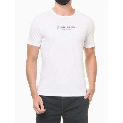 Camiseta Masculina Estampa nas Costas Reverse Branca Calvin Klein Jeans