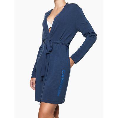 Robe M/L Viscolight - Azul Marinho