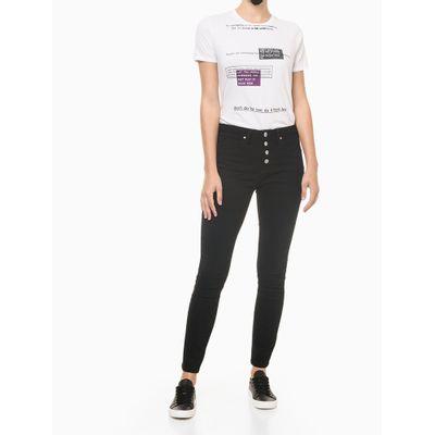Blusa Feminina Slim Estampa Some Days Branca Calvin Klein Jeans