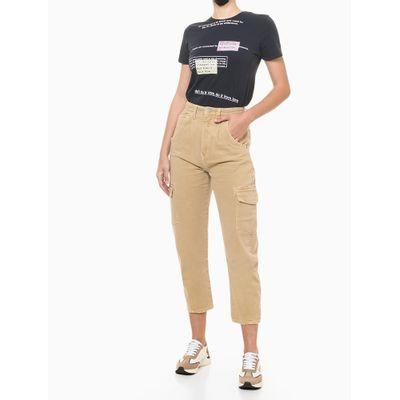 Blusa Feminina Slim Estampa Some Days Preta Calvin Klein Jeans
