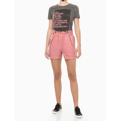 Blusa Feminina Slim Estampa Sucess Chumbo Calvin Klein Jeans