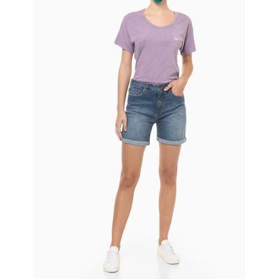 Blusa Feminina Slim Logo Costas Roxa Calvin Klein Jeans