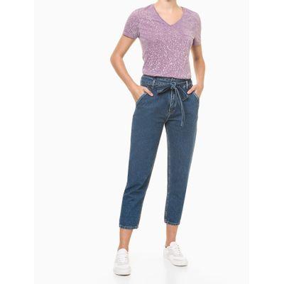 Blusa Feminina Respingos Roxa Calvin Klein Jeans