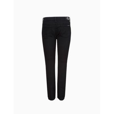 Calça Jeans Infantil Masculina Super Skinny Cintura Média Preta Calvin Klein