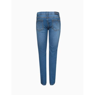Calça Jeans Infantil Masculina Skinny Cintura Média Azul Médio Calvin Klein