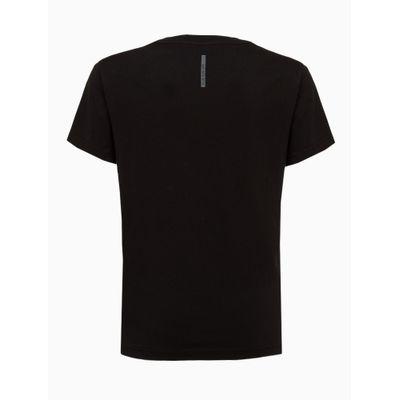 Camiseta Masculina Infantil Estampa Live Life Preta Calvin Klein Jeans
