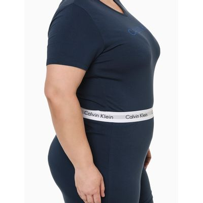 Pijama Mc E Calça Viscolight Plus Size - Azul Marinho