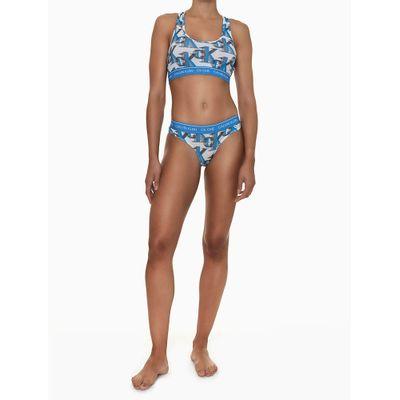 Top Nadador Estampa Múltipla CK One Azul Claro Underwear Calvin Klein