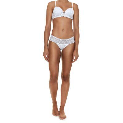 Top Sutiã de Renda com Bojo Black Istambul Branco Underwear Calvin Klein