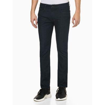 Calça Jeans Masculina Skinny Five Pockets Costura Azul Marinho Calvin Klein