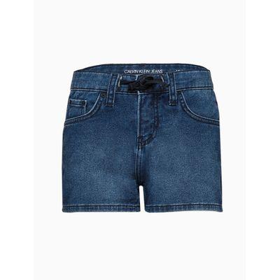 Shorts Jeans Five Pockets C/ Cad - Azul Marinho