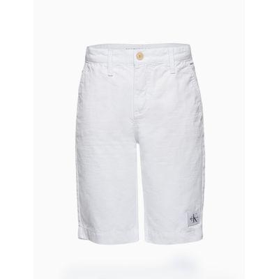Bermuda Color Chino Regular Sarja Amac - Branco