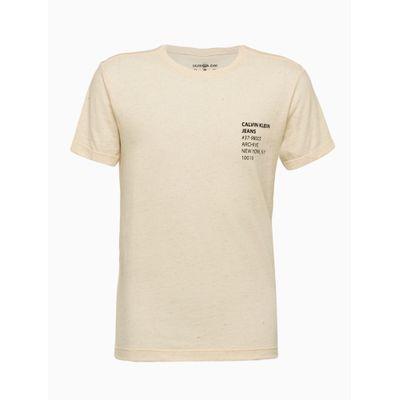 Camiseta Mc Silk Meia Rolo Gc Naturalinh - Nude