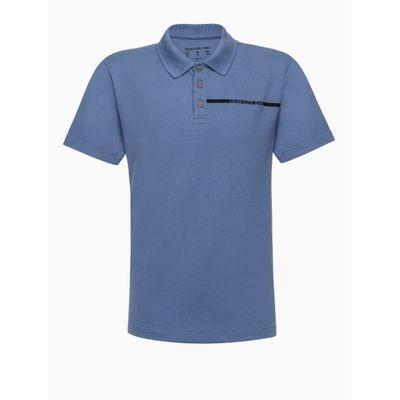 Polo Mc Piquet Palito - Azul Médio
