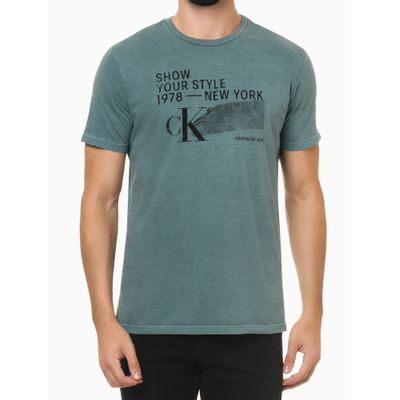 Camiseta Mc Regular Silk Meia Pig Gc - Verde