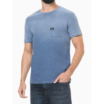 Camiseta Mc Regular Lisa Flame Pig Gc - Azul Médio