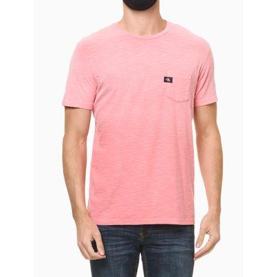 Camiseta Mc Regular Lisa Flame Pig Gc - Rosa