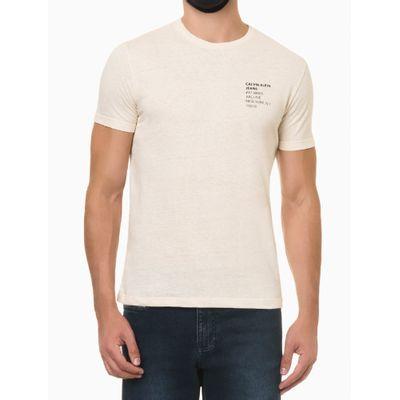 Camiseta Mc Regular Silk Meia Rolo Gc - Nude