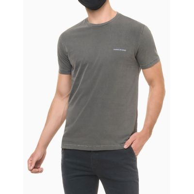 Camiseta Masculina Estampa Techno Club Chumbo Médio Calvin Klein