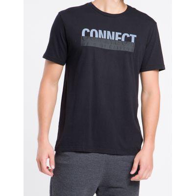 Camiseta Mc Regular Frase Meia Reat Gc - Preto