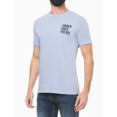 Camiseta Masculina Estampa Drum N' Bass Lilás Calvin Klein Jeans