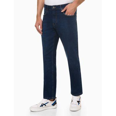 Calça Jeans Five Pockets Straight - Azul Médio