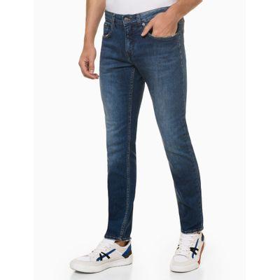 Calça Jeans Masculina Skinny Filigrana Triplo Azul Médio Calvin Klein
