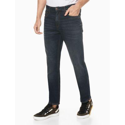 Calça Jeans Masculina Five Pockets Slim Reta Azul Marinho Calvin Klein