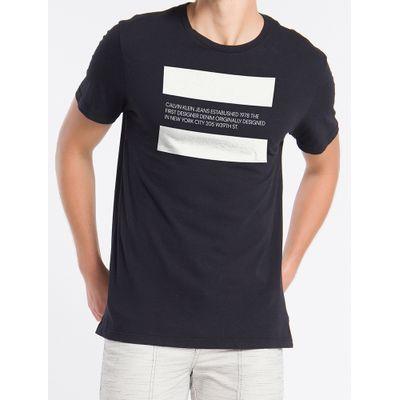 Camiseta Masculina Estampa Established 1978 Preta Calvin Klein Jeans