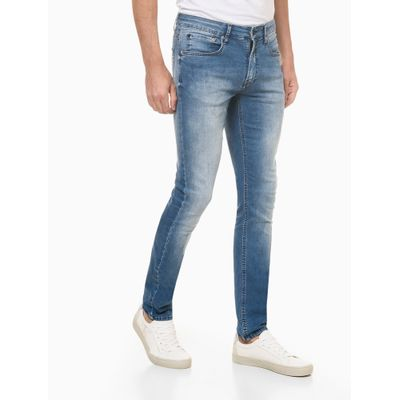 Calça Jeans Super Skinny Premium Stretc - Azul Claro