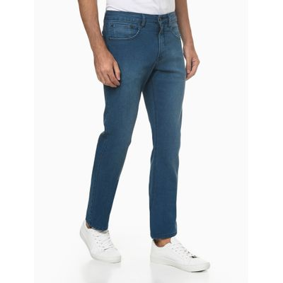 Calça Jeans Five Pockets Straight - Azul Claro