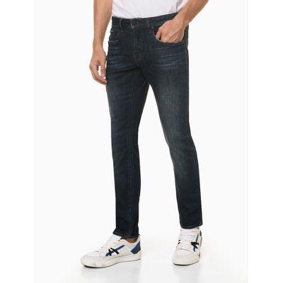 Calça Jeans Skinny Filigrana Dupla - Azul Marinho