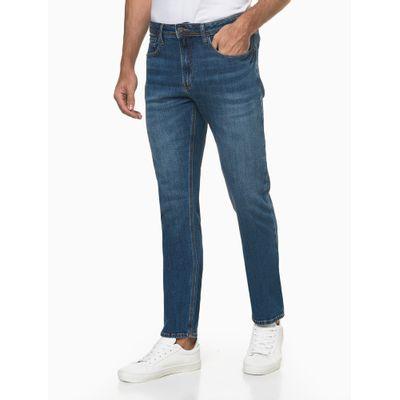 Calça Jeans Masculina Slim Filigrana Triplo Azul Médio Calvin Klein