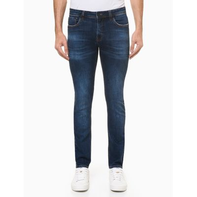 Calça Jeans Super Skinny - Azul Marinho