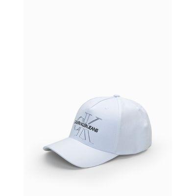 Boné Ckj Aba Curva 5 Gomos Lona Velcro R - Branco
