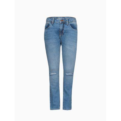 Calça Jeans Five Pockets Super Skinny - Azul Escuro