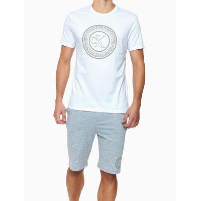 Camiseta Masculina Estampa Icon Branca Calvin Klein