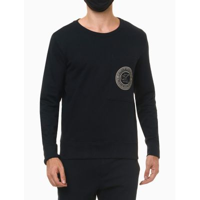 Moletom Masculino Estampa Icon Azul Marinho Loungewear Calvin Klein