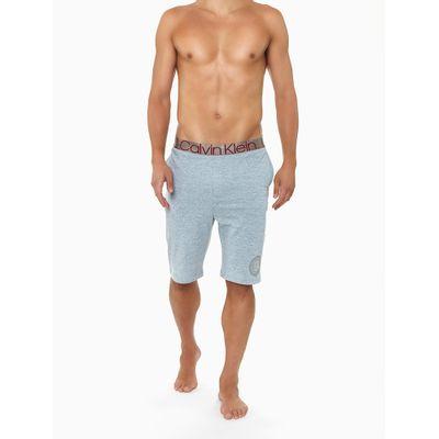 Bermuda Moletom Icon Cotton Loungewear - Cinza Mescla
