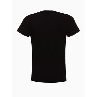 Blusa Manga Curta Logo Espelhado - Preto