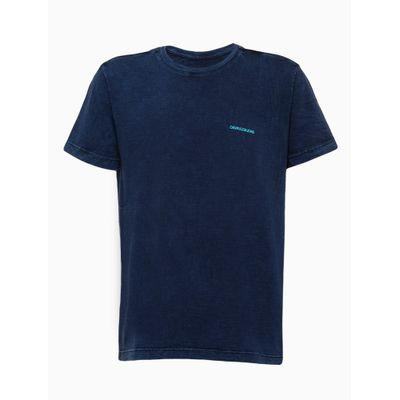 Camiseta Mc Silk Flam Marm Gc Costas G - Azul Médio