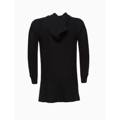 Vestido Malha Capuz Ck Foil Expansivo - Preto
