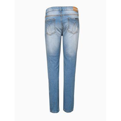 Calça Jeans Skinny Com Puídos - Azul Claro
