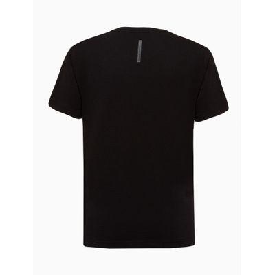 Camiseta Mc Logo Meia Reat Gc Ck Reticul - Preto
