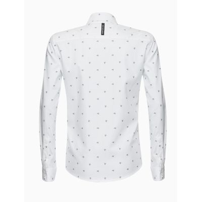 Camisa Ml Microprint Ck - Branco