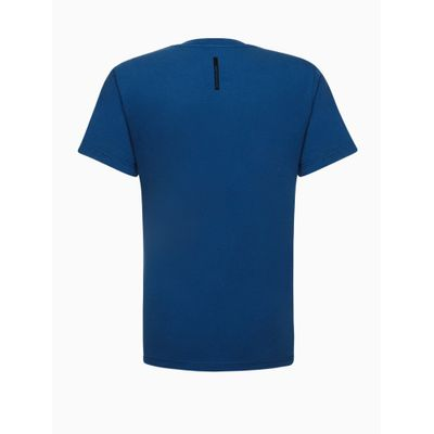 Camiseta Mc Reat Basica Calvin Peito - Azul Médio
