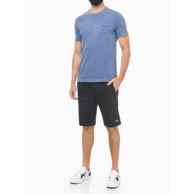 Camiseta Masculina Estampa Techno Club Azul Médio Calvin Klein