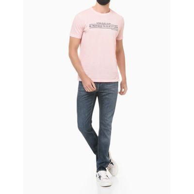 Camiseta Mc Regular Frase Meia Seco Gc - Rosa Claro