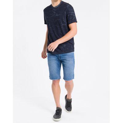 Camiseta Mc Regular Full Meia Seco Gc - Azul Marinho