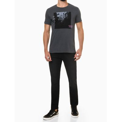 Calça Jeans Five Pockets Slim Straight - Preto
